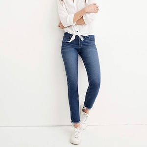 MADEWELL slim straight jeans- raw hem edition
